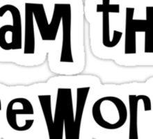 I am the Fireworks July 4th Sticker