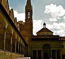 Pazzi Chapel in Basilica di Santa Croce, Florence, Italy by seanh