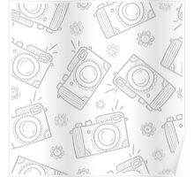 Retro photo cameras Poster