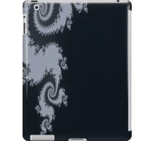 Black with Gray Swirl Pattern iPad Case/Skin