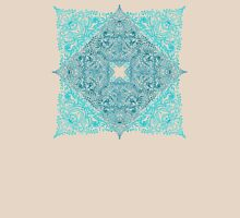 Teal Tangle Square Womens Fitted T-Shirt