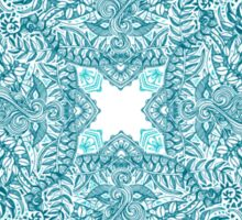 Teal Tangle Square Sticker