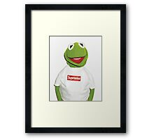 Kermit the Supreme Frog Framed Print