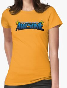 Captain Awesome Womens Fitted T-Shirt