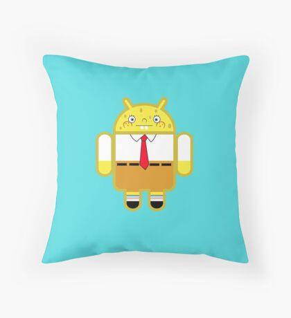 Droidarmy: Spongedroid Squarepants Throw Pillow