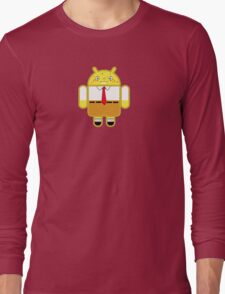 Droidarmy: Spongedroid Squarepants Long Sleeve T-Shirt