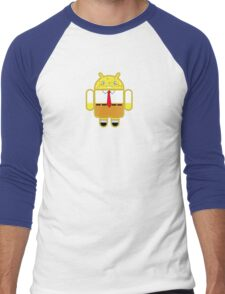 Droidarmy: Spongedroid Squarepants Men's Baseball ¾ T-Shirt