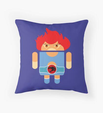 Droidarmy: Thunderdroid Lion-o no text Throw Pillow