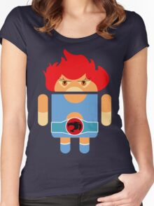Droidarmy: Thunderdroid Lion-o no text Women's Fitted Scoop T-Shirt