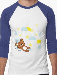 Starry Night ~ Rilakkuma  Men's Baseball ¾ T-Shirt