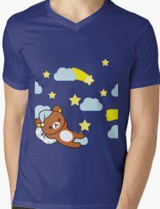 Starry Night ~ Rilakkuma  Mens V-Neck T-Shirt
