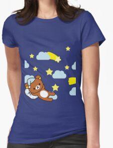 Starry Night ~ Rilakkuma  Womens Fitted T-Shirt