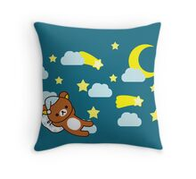 Starry Night ~ Rilakkuma  Throw Pillow