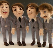 Needle Felted Beatles by feltalive