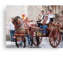 Marriage Procession Canvas Print