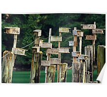 Birdhouses at Gowland Todd Poster