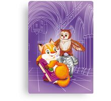 fox and owl  Canvas Print
