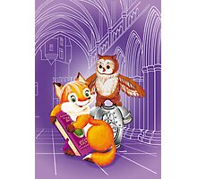 fox and owl  Photographic Print