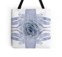Blue Rose And Ribbon Lace Tote Bag