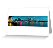 City Across the River Greeting Card