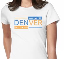 Highlights of Denver Womens Fitted T-Shirt
