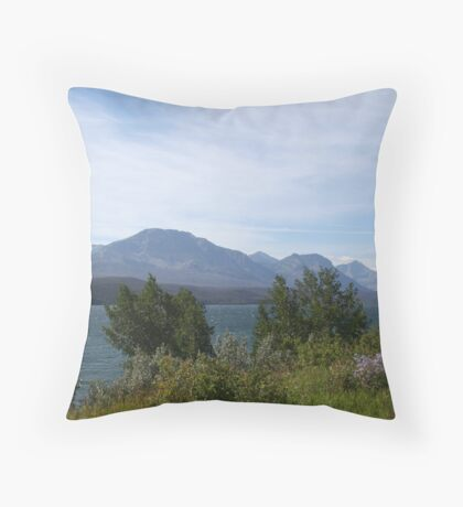 Majestic Montana lake Throw Pillow