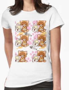 Kitty Paws ~ Rilakkuma & Korilakkuma Womens Fitted T-Shirt