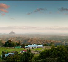 Looking to the Glasshouse Mountains by ken47