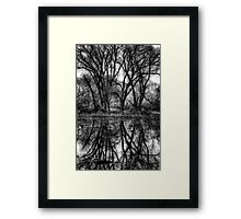 Tree Lines in Black and White Framed Print