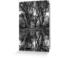 Tree Lines in Black and White Greeting Card