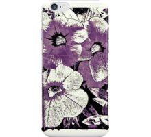 Purple screen floral iPhone Case/Skin