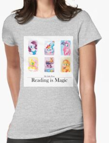Reading is magic Womens Fitted T-Shirt