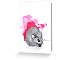 Red Hamster Greeting Card