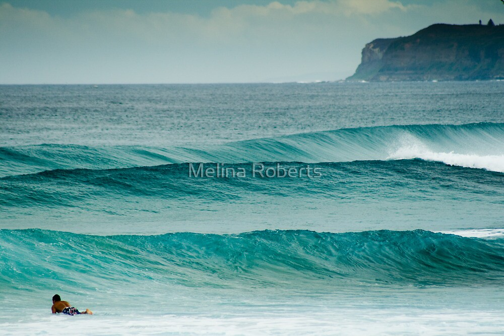 The lone Surfer by Melina Roberts