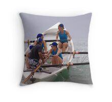 Torquay girls at Lorne Throw Pillow