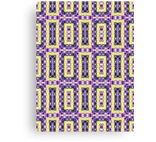 Purple, Blue, Yellow and White Abstract Design Canvas Print