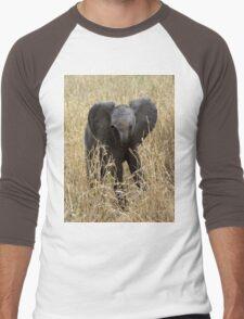Baby Elephant Men's Baseball ¾ T-Shirt