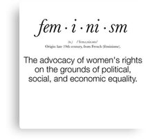 Feminism Defined Canvas Print