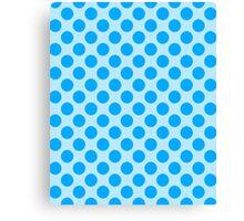 POLKA DOTS-BLUE Canvas Print