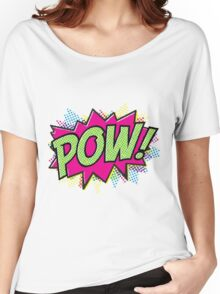 Pow! Cartoon Women's Relaxed Fit T-Shirt