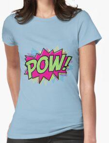 Pow! Cartoon Womens Fitted T-Shirt
