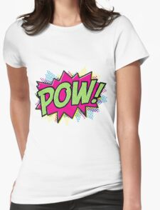 Pow! Cartoon Womens Fitted T-Shirt