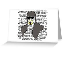 Scott Steiner Mania Greeting Card