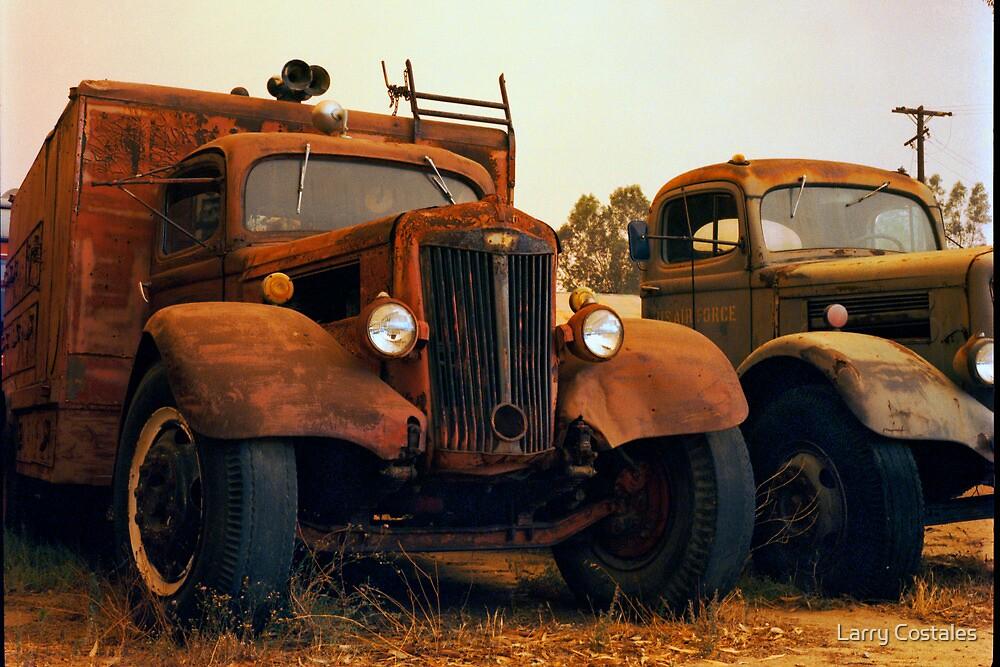 Trucks Under Smoke - Perris, CA by Larry3