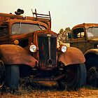 Trucks Under Smoke - Perris, CA by Larry3