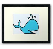 Cute Blue Whale Framed Print