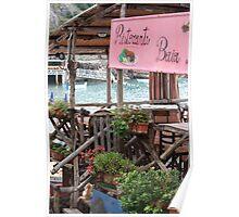 `little ristorante on the beach` Poster