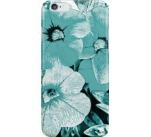 Turquoise screen floral iPhone Case/Skin