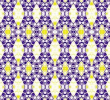 Purple, Yellow and White Abstract Design Pattern by Mercury McCutcheon