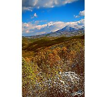 AUTUMN SNOW SUGARLANDS VALLEY Photographic Print